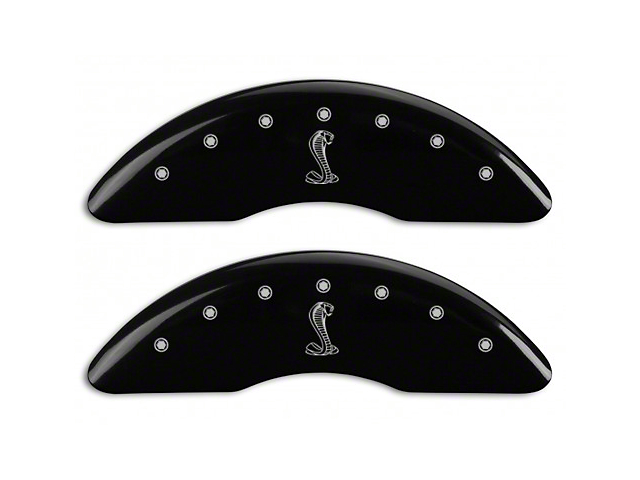 MGP Black Caliper Covers w/ Tiffany Snake Logo - Front & Rear (15-18 GT w/ Performance Pack)