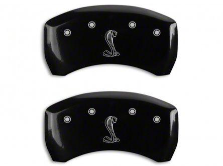 Add MGP Black Caliper Covers w/ Tiffany Snake Logo - Rear Only (07-14 GT500)