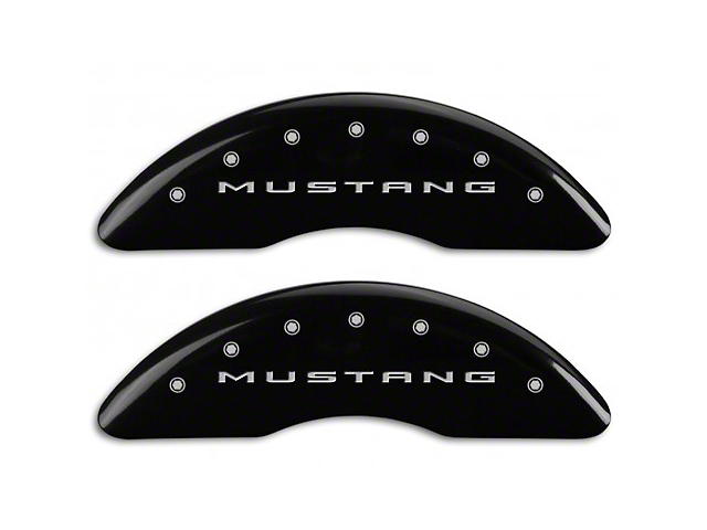 MGP Black Caliper Covers w/ Tri-Bar Pony Logo - Front & Rear (15-19 GT w/ Performance Pack)