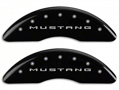 MGP Black Caliper Covers w/ Tri-Bar Pony Logo - Front & Rear (15-18 GT w/ Performance Pack)