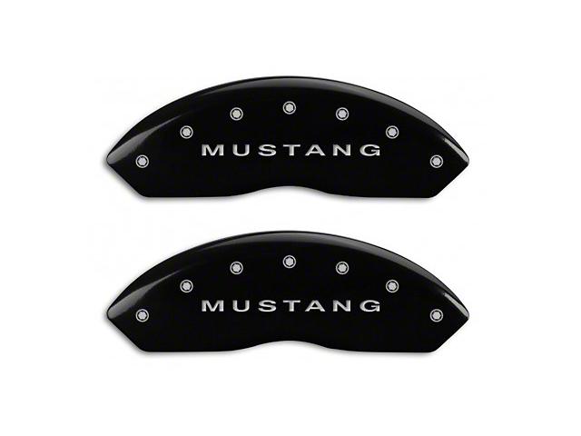 MGP Black Caliper Covers w/ Tri-Bar Pony Logo - Front & Rear (94-04 Cobra, Bullitt, Mach 1)
