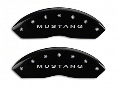 MGP Black Caliper Covers w/ Tri-Bar Pony Logo - Front & Rear (10-14 Standard GT, V6)