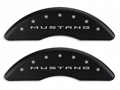 MGP Matte Black Caliper Covers w/ 5.0 Logo - Front & Rear (15-18 GT w/ Performance Pack)