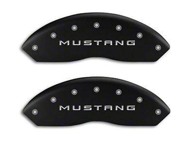 MGP Matte Black Caliper Covers w/ GT Logo - Front & Rear (10-14 Standard GT)