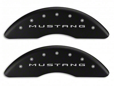 MGP Matte Black Caliper Covers w/ Tri-Bar Pony Logo - Front & Rear (15-19 GT w/ Performance Pack)