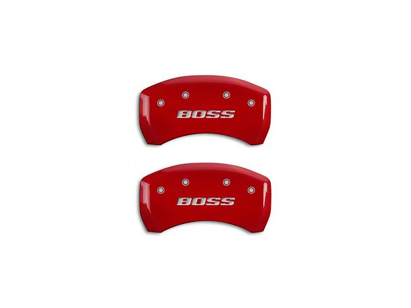 MGP Red Caliper Covers w/ BOSS Logo - Rear Only (12-13 BOSS 302)