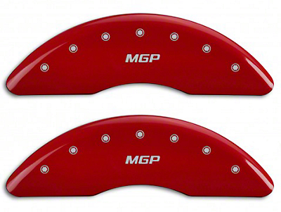 MGP Red Black Caliper Covers w/ MGP Logo - Front & Rear (15-19 GT w/ Performance Pack)