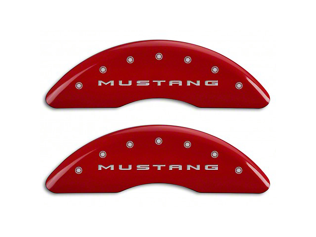 MGP Red Caliper Covers w/ 5.0 Logo - Front & Rear (15-18 GT w/ Performance Pack)