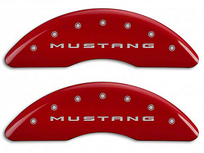 MGP Red Caliper Covers w/ 5.0 Logo - Front & Rear (15-19 GT w/ Performance Pack)