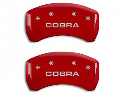 MGP Red Caliper Covers w/ Cobra Logo - Rear Only (07-14 GT500)