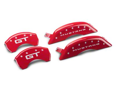Add MGP Red Caliper Covers w/ GT Logo - Front & Rear (15-18 GT w/ Performance Pack)