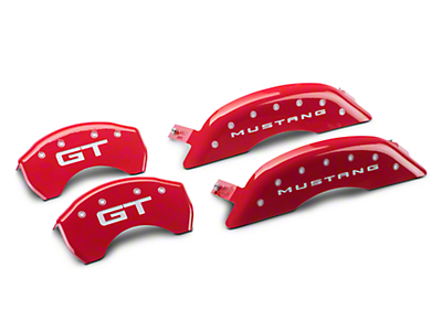 MGP Red Caliper Covers w/ GT Logo - Front & Rear (15-18 GT w/ Performance Pack)