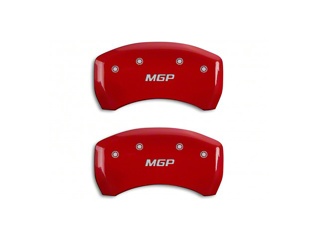 MGP Red Caliper Covers w/ MGP Logo - Rear Only (15-19 GT w/ Performance Pack)