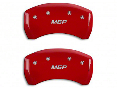 MGP Red Caliper Covers w/ MGP Logo - Rear Only (15-18 GT w/ Performance Pack)
