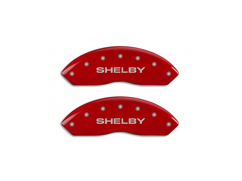 MGP Red Caliper Covers w/ Shelby Snake Logo - Front & Rear (94-04 Cobra)