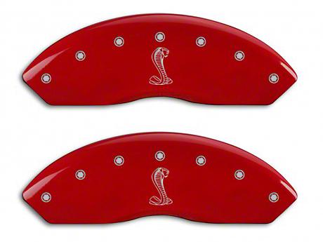 MGP Red Caliper Covers w/ Tiffany Snake Logo - Front & Rear (94-04 Cobra)