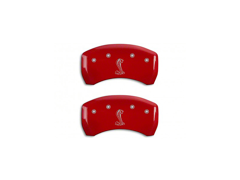 MGP Red Caliper Covers w/ Tiffany Snake Logo - Rear Only (07-14 GT500)