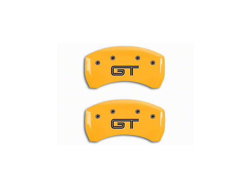 MGP Yellow Caliper Covers w/ GT Logo - Rear Only (05-14 GT)