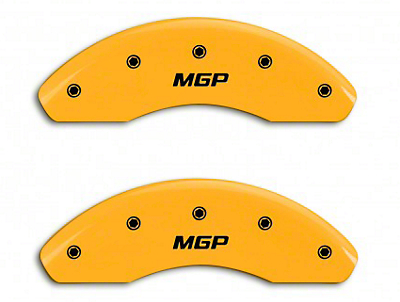 MGP Yellow Black Caliper Covers w/ MGP Logo - Front & Rear (94-98 GT, V6)