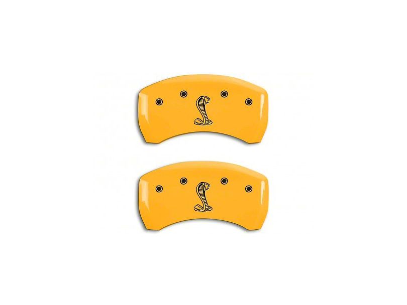MGP Yellow Black Caliper Covers w/ Tiffany Snake Logo - Rear Only (07-14 GT500)
