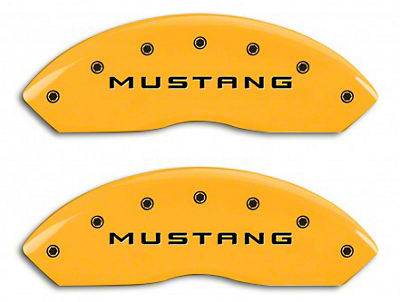 MGP Yellow Caliper Covers w/ 5.0 Logo - Front & Rear (10-14 Standard GT)