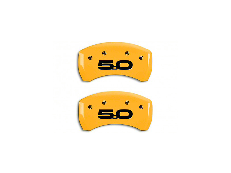 MGP Yellow Caliper Covers w/ 5.0 Logo - Rear Only (15-20 GT w/ Performance Pack)