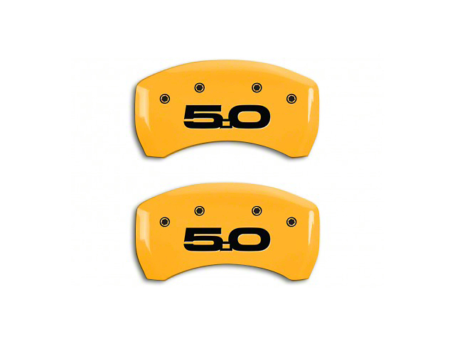 MGP Yellow Caliper Covers w/ 5.0 Logo - Rear Only (15-18 GT w/ Performance Pack)