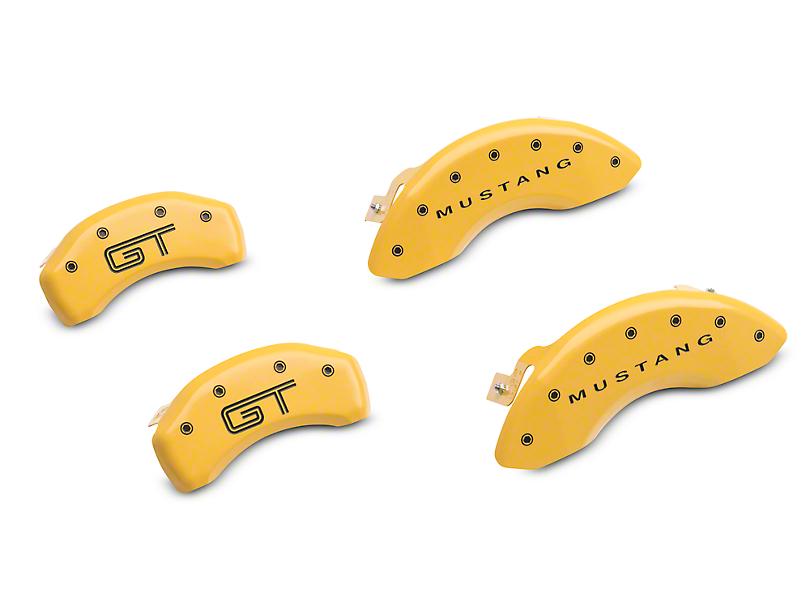 MGP Yellow Caliper Covers w/ GT Logo - Front & Rear (05-09 GT)