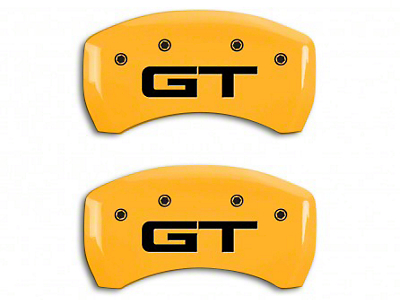 MGP Yellow Caliper Covers w/ GT Logo - Rear Only (15-18 GT w/ Performance Pack)