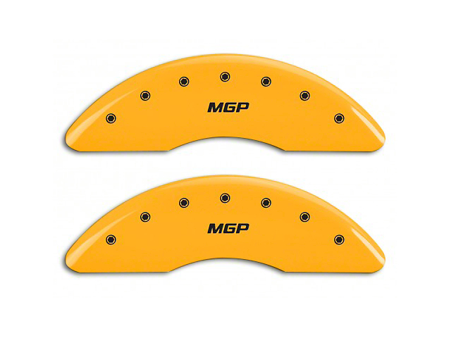 MGP Yellow Caliper Covers w/ MGP Logo - Front & Rear (15-18 GT w/ Performance Pack)