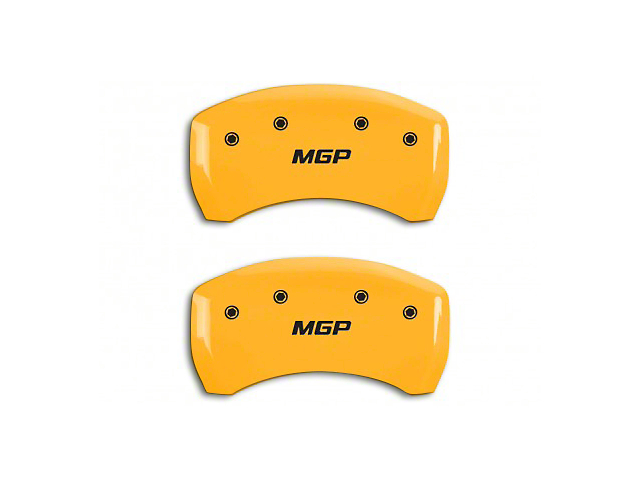 MGP Yellow Caliper Covers w/ MGP Logo - Rear Only (15-19 GT)