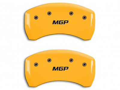 MGP Yellow Caliper Covers w/ MGP Logo - Rear Only (15-18 GT)