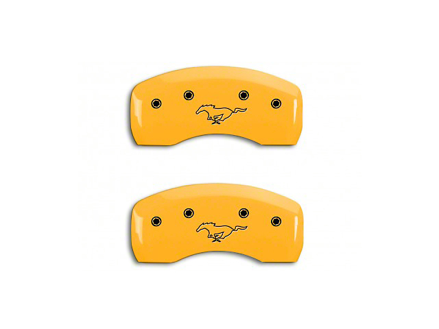 MGP Yellow Caliper Covers w/ Running Pony Logo - Front & Rear (94-98 GT, V6)