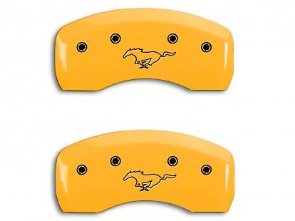 MGP Yellow Caliper Covers w/ Running Pony Logo - Front & Rear (94-98 GT, V6)