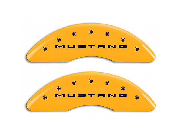 MGP Yellow Caliper Covers w/ Tri-Bar Pony Logo - Front & Rear (15-19 GT w/ Performance Pack)