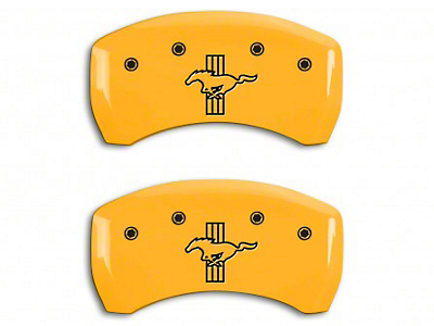 MGP Yellow Caliper Covers w/ Tri-Bar Pony Logo - Rear Only (05-14 GT)
