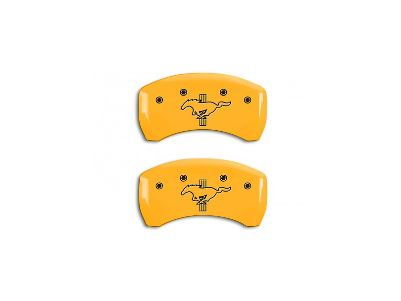 MGP Yellow Caliper Covers w/ Tri-Bar Pony Logo - Rear Only (12-13 BOSS 302)