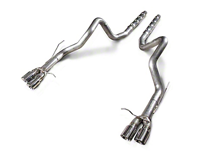 Stainless Works Retro Chambered Resonator Delete Cat-Back Exhaust (13-14 GT500 w/ Long Tube Headers)