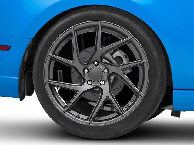 Rovos Joburg Satin Gunmetal Wheel; Rear Only; 20x10 (10-14 All)