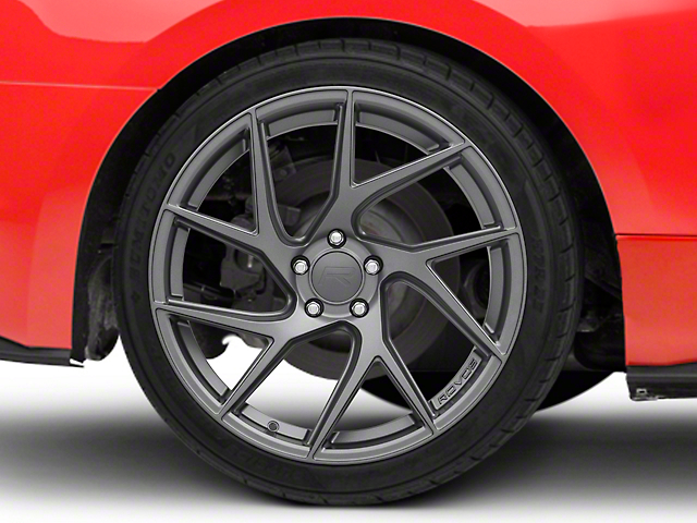 Rovos Joburg Satin Gunmetal Wheel; Rear Only; 20x10 (15-20 GT, EcoBoost, V6)