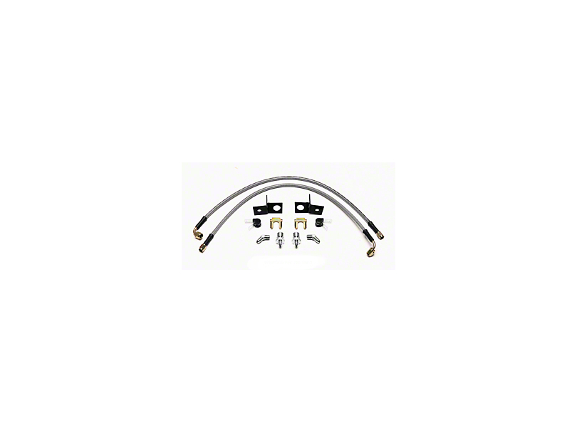 Wilwood AERO4 Caliper Flexline Brake Line Kit - Rear (15-19 All)