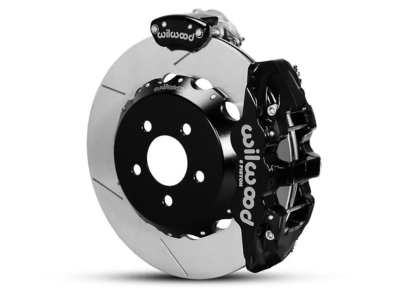 Wilwood AERO4 MC4 Rear Brake Kit w/ Slotted Rotors - Black (15-18 All)