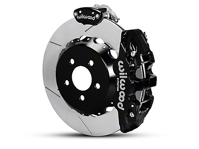 Wilwood AERO4 MC4 Rear Brake Kit w/ Slotted Rotors - Black (15-18 All)