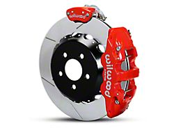 Wilwood AERO4 MC4 Rear Big Brake Kit with Slotted Rotors; Red Calipers (15-20 All)