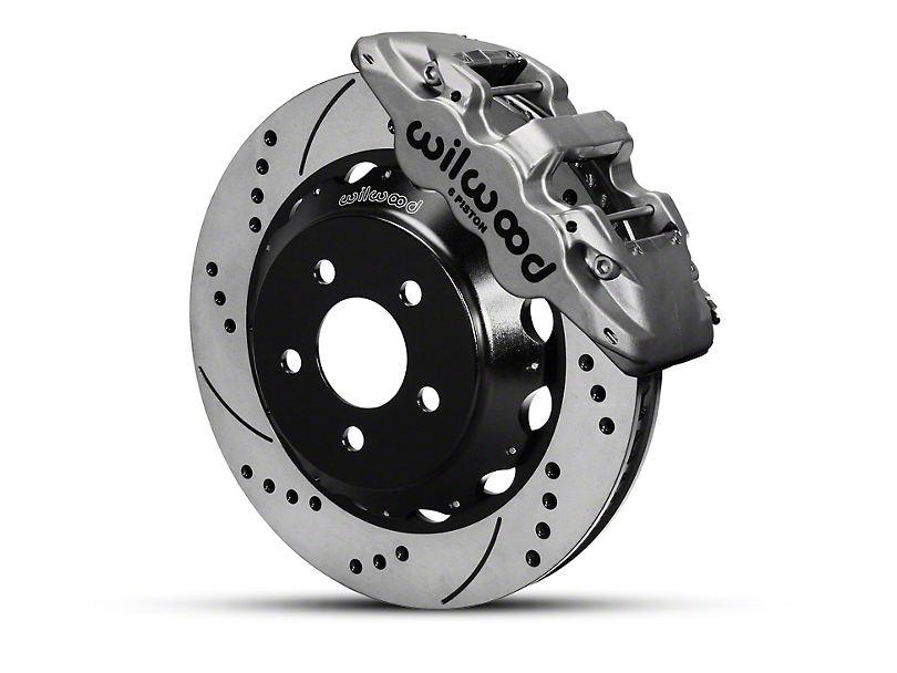 Wilwood AERO6 Front Brake Kit w/ 14 in. Drilled & Slotted Rotors - Nickel (15-19 All)
