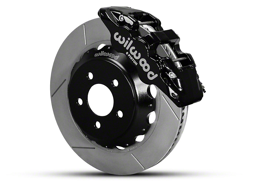 Wilwood AERO6 Front Brake Kit w/ 14 in. Slotted Rotors - Black (15-19 All)