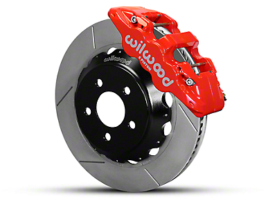 Wilwood AERO6 Front Brake Kit w/ 14 in. Slotted Rotors - Red (15-18 All)