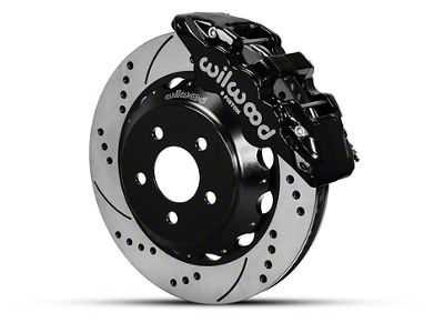 Wilwood AERO6 Front Big Brake Kit w/ 15 in. Drilled & Slotted Rotors - Black (15-19 All)