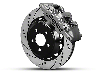 Wilwood AERO6 Front Brake Kit w/ 15 in. Drilled & Slotted Rotors - Nickel (15-19 All)
