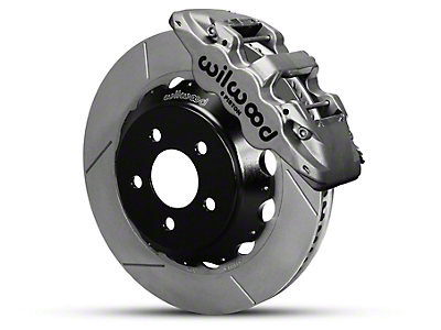Wilwood AERO6 Front Brake Kit w/ 15 in. Slotted Rotors - Nickel (15-19 All)